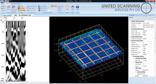 3d volume showing reinforcing mesh