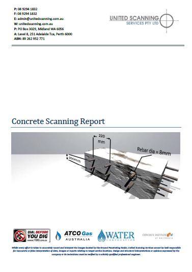 Concrete Scanning Report