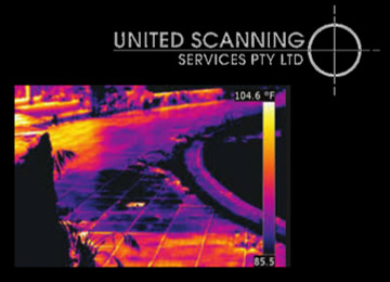 Thermal imaging being used to identify moist areas
